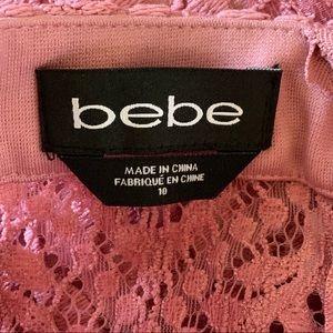 bebe Dresses - $64‼️Bebe pink lace party dress size 10